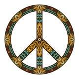 在白色隔绝的国际和平标志 和平概念 免版税库存照片