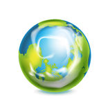 在白色隔绝的地球地球 免版税库存图片