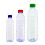 在白色隔绝的塑料瓶 库存照片