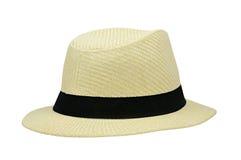 在白色隔绝的夏天帽子 库存图片