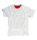 在白色隔绝的大模型的白色空白的T恤杉 免版税图库摄影