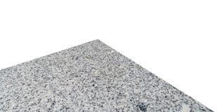 在白色隔绝的大理石石桌 库存图片