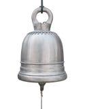 在白色隔绝的大黄铜响铃 免版税库存照片