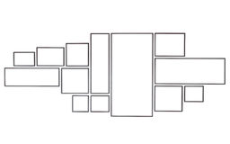 在白色隔绝的套空白的木照片框架 保存与夹子 免版税库存照片