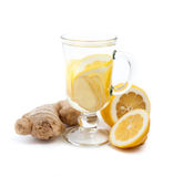 姜和柠檬饮料 免版税图库摄影