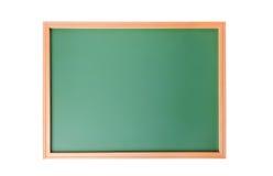 在白色隔绝的学校黑板 免版税库存照片