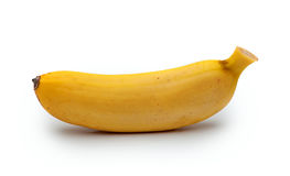 在白色隔绝的小香蕉 免版税库存图片