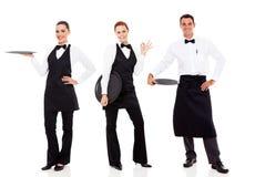 小组餐馆职员 免版税库存图片