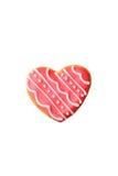 在白色隔绝的心脏曲奇饼 库存图片