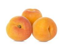 在白色隔绝的成熟杏子果子 免版税库存照片