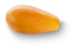 在白色隔绝的成熟番木瓜果子荷兰种类 库存图片