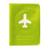在白色隔绝的护照的盖子 库存照片
