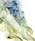 在白色隔绝的抽象精美烟 免版税库存图片