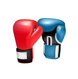 在白色隔绝的拳击手套 免版税库存图片