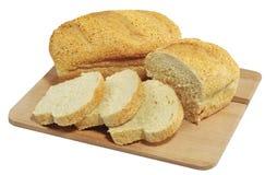 在白色隔绝的新鲜的玉米玉米面面包 免版税图库摄影