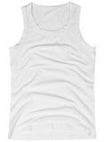 在白色隔绝的无袖的男女皆宜的衬衣 免版税库存照片