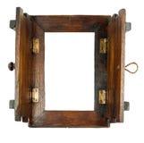 在白色隔绝的木框架 免版税库存图片
