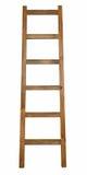 在白色隔绝的木梯子 免版税库存图片