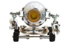 在白色隔绝的机器人。 免版税库存照片