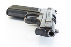 在白色隔绝的枪管 免版税库存图片