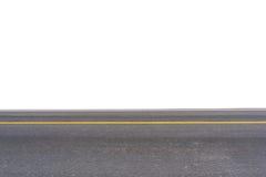 在白色隔绝的柏油路 免版税库存图片