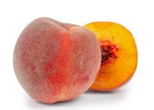 在白色隔绝的桃子 免版税图库摄影