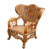 在白色隔绝的椅子 免版税图库摄影