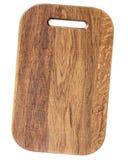 在白色隔绝的橡木木切板 免版税库存照片