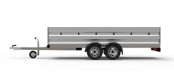 在白色隔绝的汽车拖车 皇族释放例证