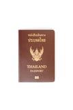 在白色隔绝的泰国护照 库存图片
