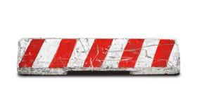 在白色隔绝的混凝土路障碍 免版税库存照片