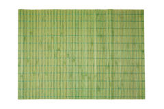 在白色隔绝的温泉和化妆用品背景的竹位置字块 库存图片