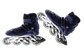 在白色隔绝的溜冰鞋 免版税库存照片