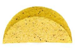 在白色隔绝的炸玉米饼壳 库存照片
