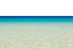在白色隔绝的热带海 免版税库存图片