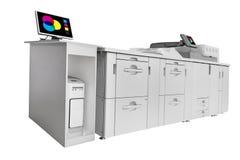 在白色隔绝的现代数字式打印机 免版税图库摄影
