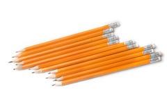 在白色隔绝的石墨铅笔 库存照片