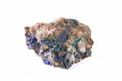 石青矿物。 图库摄影