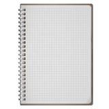 在白色隔绝的空白的现实螺旋笔记薄笔记本 免版税库存照片