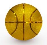 金黄的篮球 库存照片