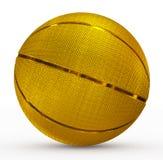 金黄的篮球 图库摄影