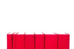 在白色隔绝的红色精装书 库存照片