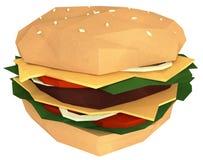在白色隔绝的纸汉堡包钝汉 库存例证