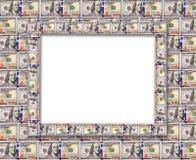 从在白色隔绝的美元的框架 免版税库存图片
