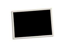 在白色隔绝的老照片 包括的裁减路线 库存照片