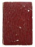 在白色隔绝的老皮革书套 免版税图库摄影