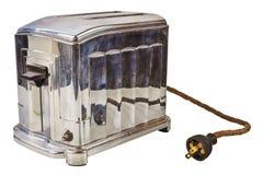 在白色隔绝的老面包多士炉 库存照片