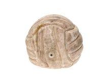 在白色隔绝的老,使用的和被洗涤的手球球 免版税库存照片