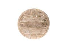 在白色隔绝的老,使用的和被洗涤的手球球 库存照片