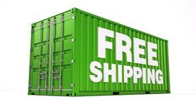 在白色隔绝的自由运输货柜 免版税库存图片